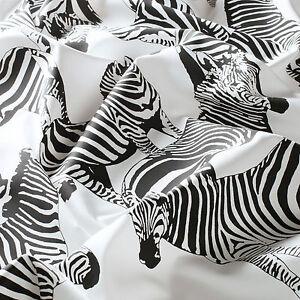 """""""substances Design!"""" Milo * Au Mètre Tissu Satin Zebra Pression Noir Et Blanc Jab-afficher Le Titre D'origine Mode Attrayante"""