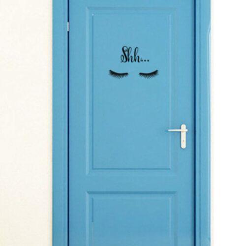 Beautiful Lovely Shh Eyelash Vinyl Wall Sticker Baby Girls Room Door Decal Decor