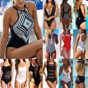 7ec0480862b Image is loading Women-Swimming-Costume-Padded-Swimsuit-Monokini-Swimwear -Bikini-