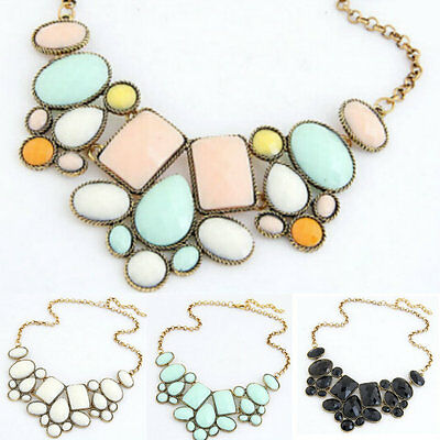 Hot Bubble Collar Charm Pendant Chunky Choker Statement Chain Necklace Jewelry