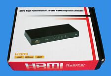 MAPLIN Ultra-High Performance 3 Ports HDMI Amplifier Switcher - N49QK
