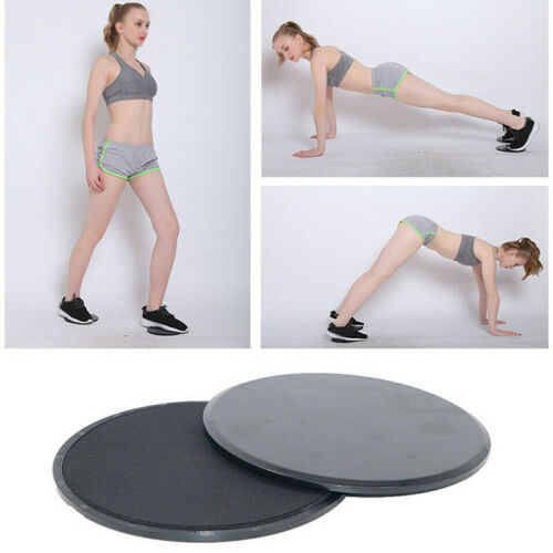 1 Pair Core Sliders Gliding Discs Fitness Gym Abs Exercise Core Workout Sports