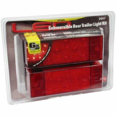 "Peterson Manufacturing V947 LED Over 80/"" Wide Rear Trailer Light Kit"