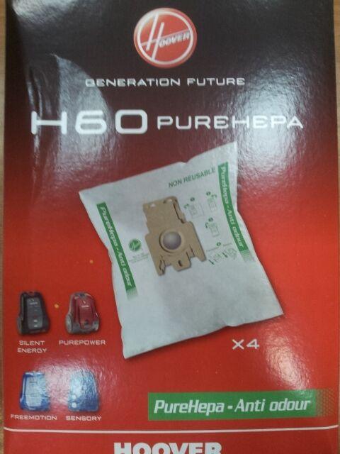 H60 Sacchetti Hoover Sensory Freemotion Silent Originali in Microfibra EPA