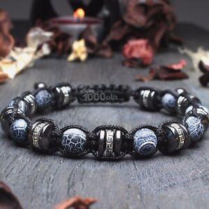 New Bracelet STYLE Tibétain Homme/Men's perles Pierre Agate Bois Coco Hématite