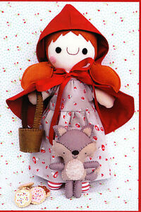 PATTERN-Red-Riding-Hood-amp-Wolfie-cute-softie-toy-PATTERN-Two-Brown-Birds
