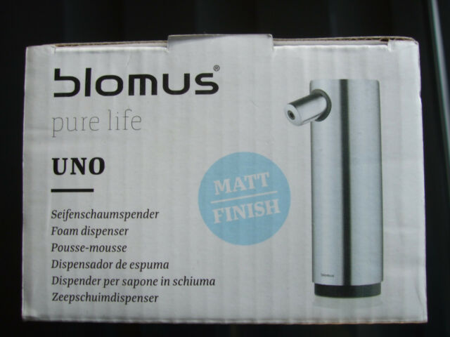 NEW 250ML BLOMUS UNO MATT STAINLESS STEEL FOAM SOAP DISPENSER