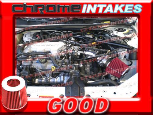 BLACK RED 00 01 02-05 CHEVY IMPALA//MONTE CARLO 3.4 3.4L FULL AIR INTAKE KIT TB