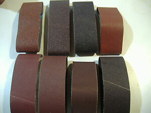 "Lot 4 Sanding Belt 2-1//2/"" x 16/"" ~ 80 Grit Medium ~ New"