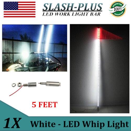5 feet ATV UTV Led Light Bulb Whip With flag Quick Install Sail Sand 4X4 White