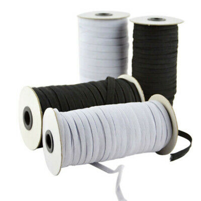 Elastic stretch flat black or white waistband woven sewing trousers dressmaking