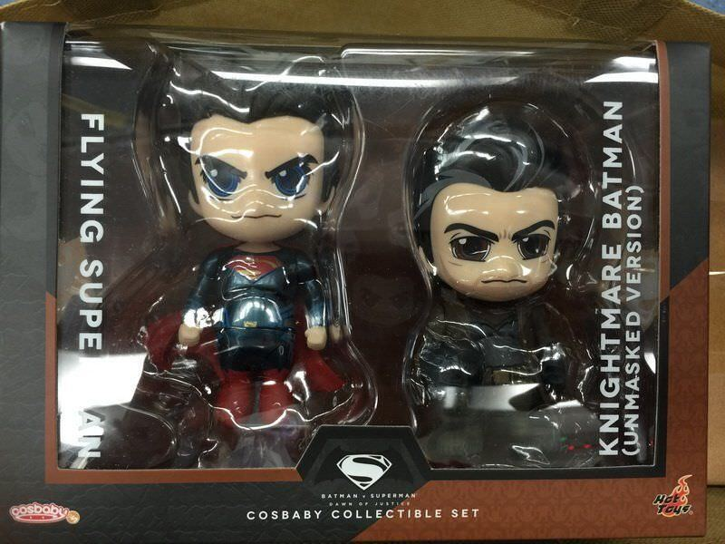 Knightmare Batman & Flying Superman Cosbaby Set - Hot Toys - New.