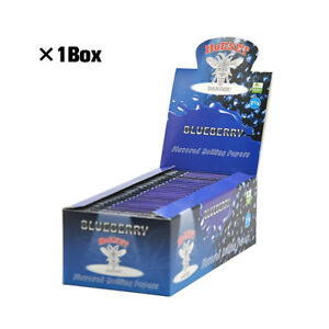 1 BOX Hornet 1 1/4 Size BLUEBERRY Fruit Flavored Smoking Cigarette Rolling Paper