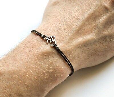 Namaste Bracelet Om Bracelet Zen Jewelry Sterling Silver Charm Bangle Yogi Jewelry Silver Charm Bracelet Hindu Jewelry Ohm Bracelet