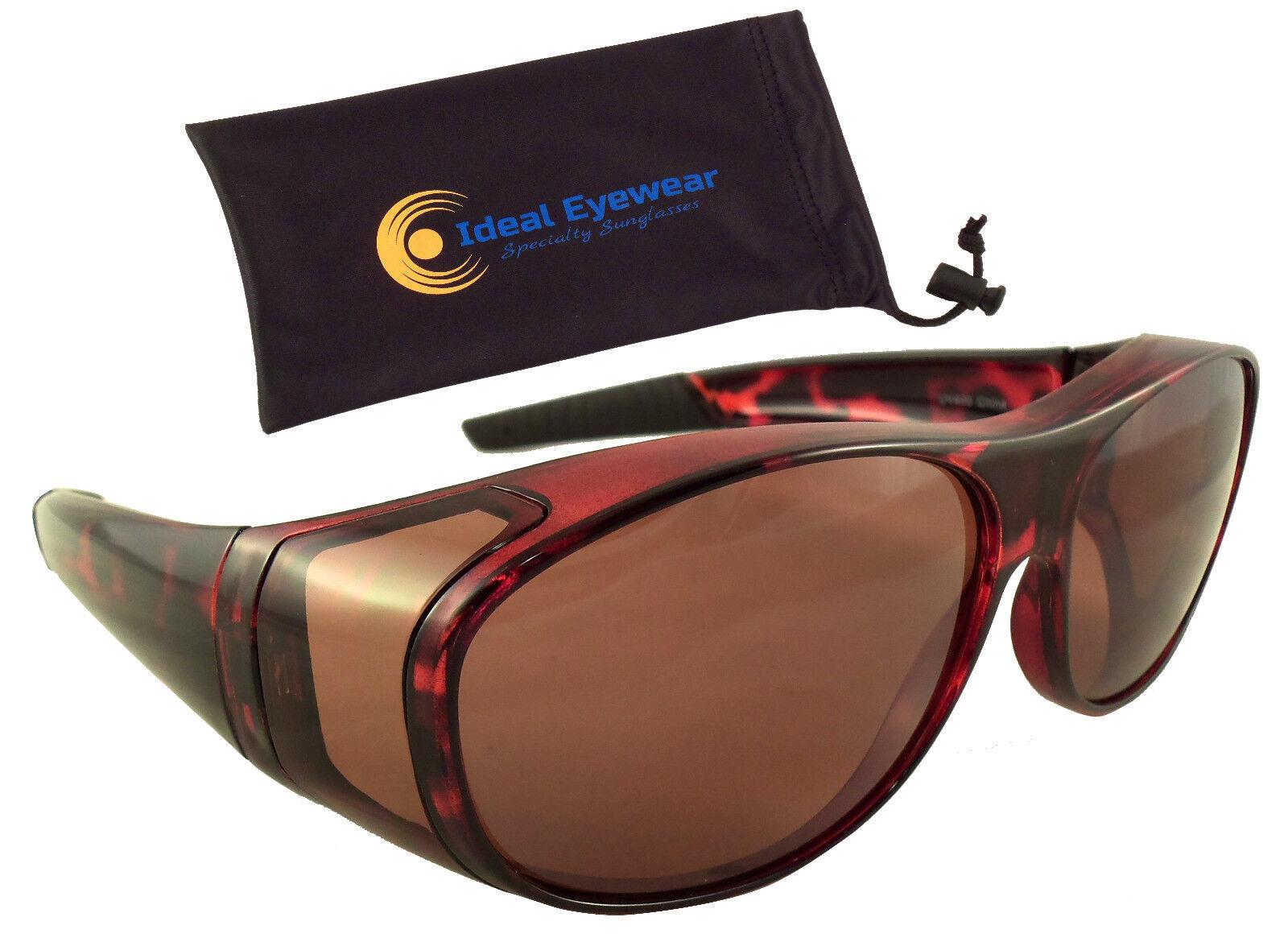 IGnaef Fit Over Glasses Sunglasses HD Polarized Lenses Wrap Around Sunglasses Wear Over Regular Glasses UV Protection