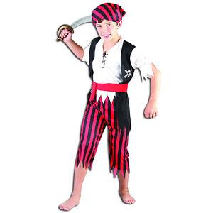 bambino-pirata-ragazzo-Jim-CARAIBI-Cabin-girocollo-HALLOWEEN-Book-Week-Costume