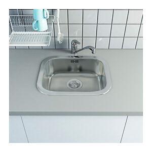 IKEA Küchenspüle mit Mischer, Siphon und Zubehör Einbauspüle Spüle ...