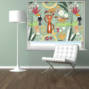 Kids-Cartoon-Jungle-Animals-Pattern-Printed-Photo-Picture-Roller-Blind-Blackout