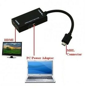 Details about 1080p MICRO USB TO HDMI MHL CABLE ADAPTER FOR Sony Xperia Z  ZR Z1 Z2 Z3 IM750