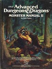 MONSTER MANUAL II 2016 VGC! 1st PRT AD&D D&D TSR Monstrous DND Dungeons Dragons