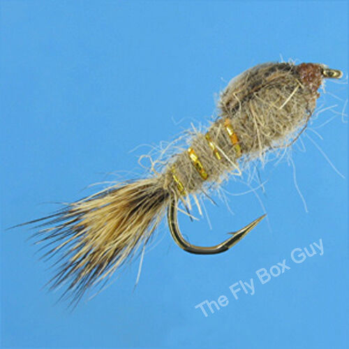 Hares Ear Gold Rib Premium Fly Fishing Flies Sizes Available*** One Dozen