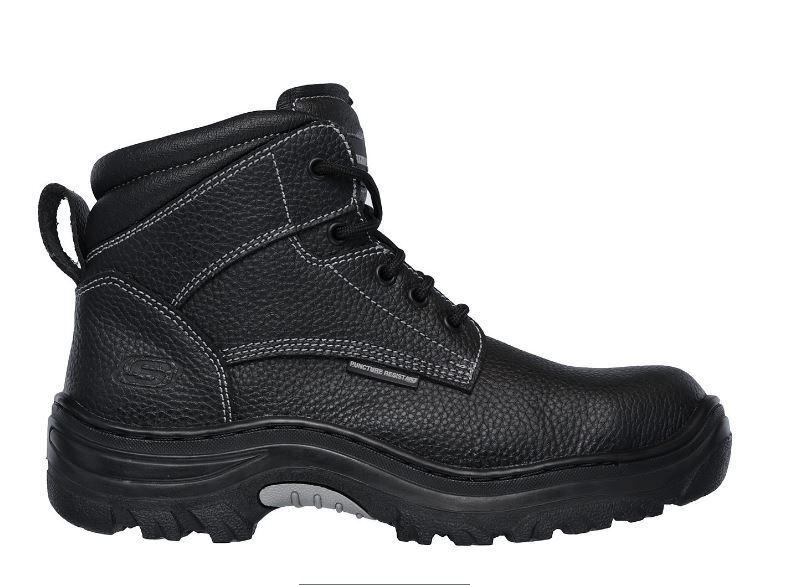 Skechers Tarlac Men's Black Steel Toe EH Puncture Resistant Work Boot 77143 BLK