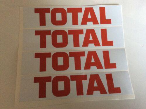 4x Total Vinyl Decals Le Mans Slotcar trackside Scalextric Carrera 1//32
