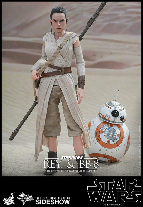 1 6 Scale Star Wars The Force Awakens Rey and BB-8 Set MMS Hot Toys