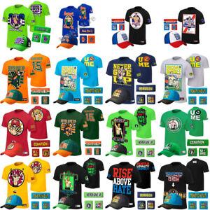5PCS-T-Shirt-headband-wrist-bands-Hat-cap-Kid-Youth-Men-for-john-cena-WWE-Xmas