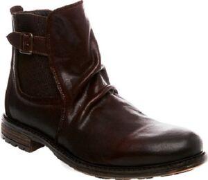 3661399e1e2 NIB Steve Madden Men s Loren Chelsea Leather Boots in Dark Brown