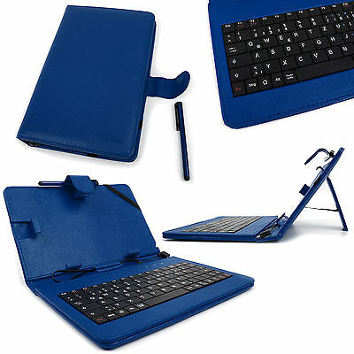 DURAGADGET Faux Leather AZERTY French Keyboard Case in Blue with Micro USB /& Built-in Stand Suitable for LG G Pad II 8.0 Tablet