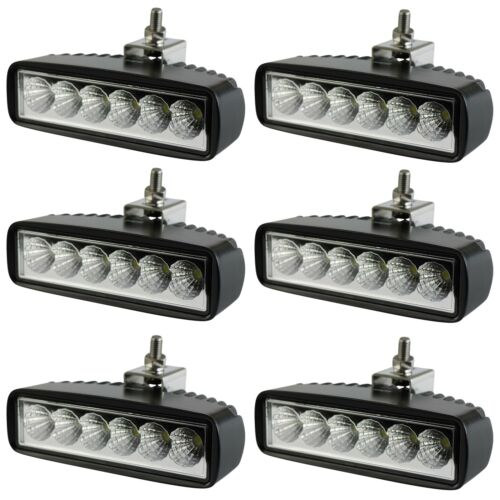 6 Pcs 6inch LED 12V Work Light Spot Flood Driving Fog Lamp Bar Car SUV Off-road