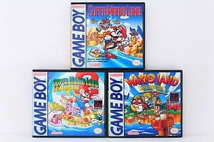 Super-Mario-Land-1-2-3-Wario-Land-Custom-Cases-Set-NO-GAMES-Game-Boy-GB