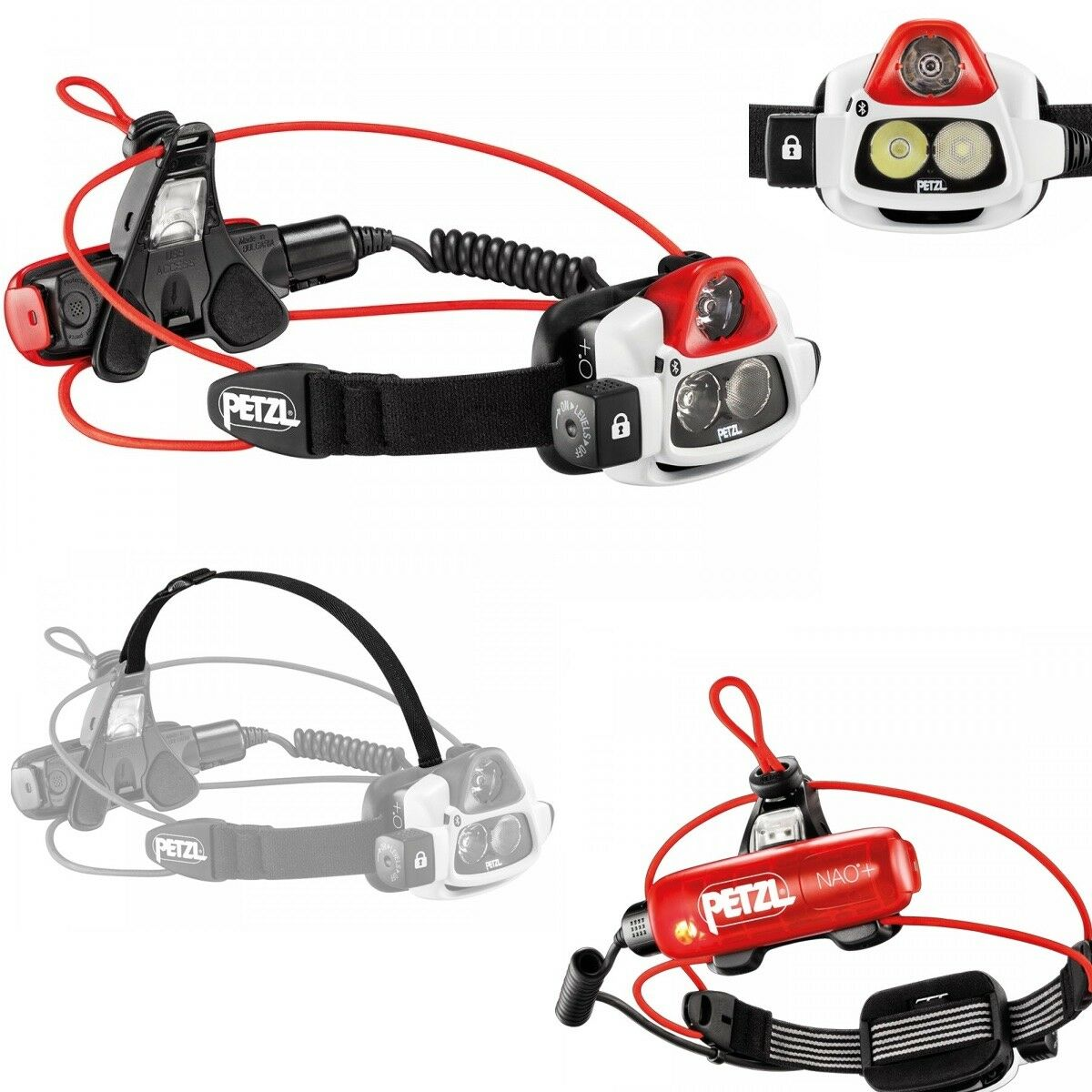 Petzl Nao Led Stirlampe IPX4 Blautooth Smart - max. 750 LuSie