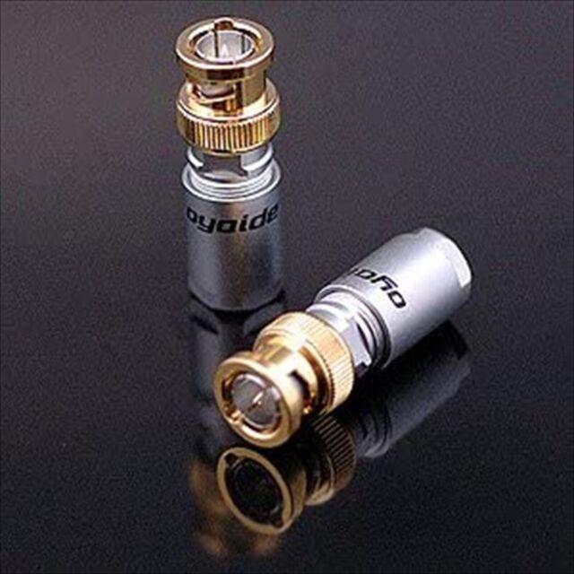 Oyaide SLSB BNC Plugs Set of 2 11.2 x 8.6 x 2 cm 100 g