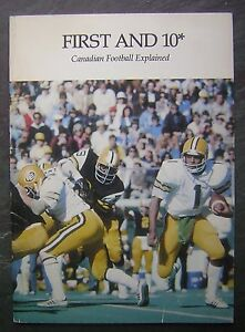 "c1970s Schenley Football Awards ""First And 10"" Canadian Football Explained Guide"