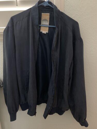 Silk UOMO By NAK Unisex Bomber Jacket Size M In Na
