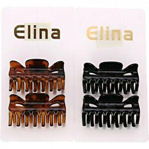 2 Grosses Pinces à Cheveux Maintien en Plastique 6 x 3 cm Noires ou Marron