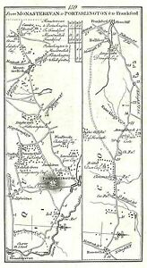 Antique-map-Roads-from-Monasterevan-to-Frankford-Portarlington-to-Killeigh