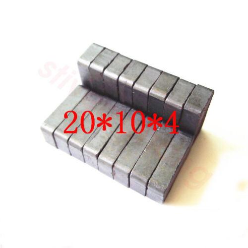 Lots Block 20mmx10mmx4mm Round Corner Strong Power Black Ferrite Y30 Magnets