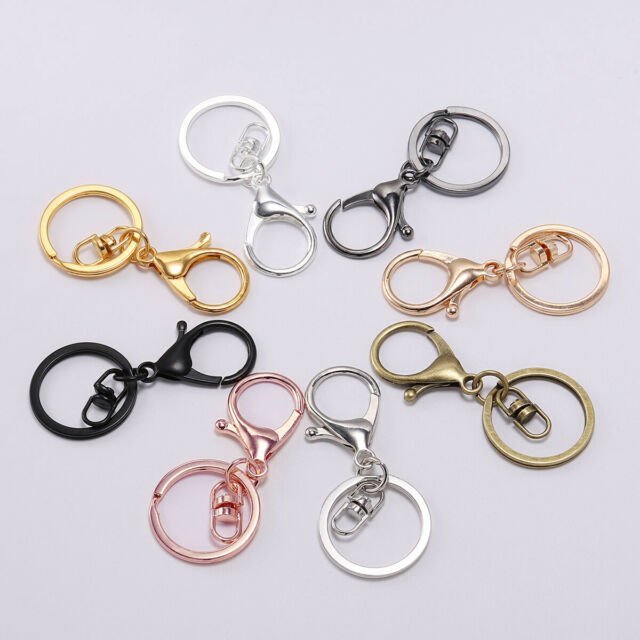 5pcs Metal Lobster Clasp Swivel Trigger Clip Snap Hook Keychain Ring Charms