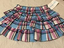 NWT Kellys Kids Berry Multi Plaid Twill Ruffle Skirt Size 3-4 3T 4T MSRP $38