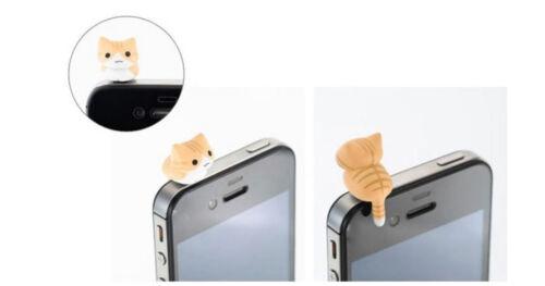 2 Wahl Handy Dust Plug Katze Cat Accessoire Staubschutz Mobile süß sweet neu