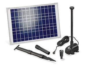 20 w solarpumpe solar pumpenset teichpumpe tauchpumpe. Black Bedroom Furniture Sets. Home Design Ideas