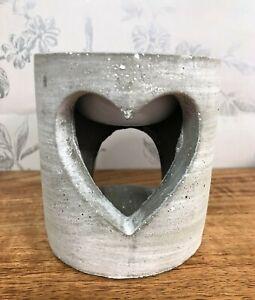 Concrete-Industrial-Style-Heart-Wax-Melt-Oil-Burner-Pot-Pink-Grey-or-Blue