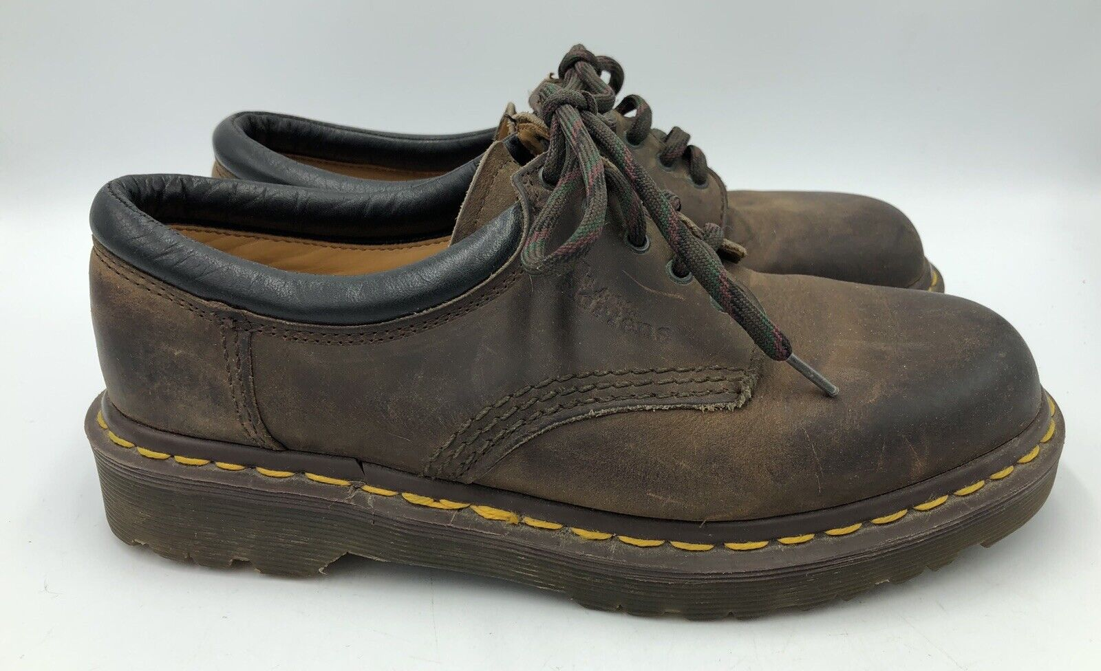 Dr Martens Vintage Brown AW04 Oxfords Made England EUC Women's Size 6 UK US 8