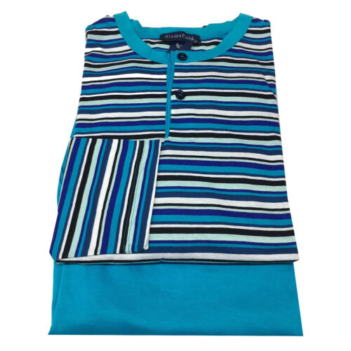 100coton Blumsfield rayures pour Pyjamas hommes ᄄᄂ Turquoise XwOPilZTuk