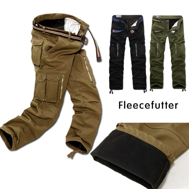 herren thermohose cargo fleecefutter winter hose fleece warm gef tte kollektion erkunden bei ebay. Black Bedroom Furniture Sets. Home Design Ideas