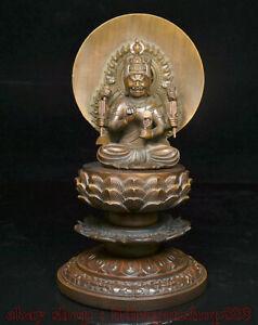 9-2-034-vieux-bois-de-buis-sculpte-Japon-Fudo-Acalanatha-Bouddha-Lotus-Statue