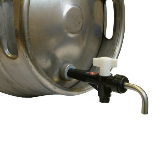 Cask Ale Tap Beer Barrel Tap Keg Tap Turn Down Racking Tap Nut and Hop Strainer